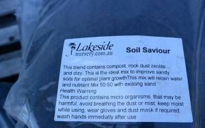 soil saviour - blend of rockdust zeolite, compost and clay
